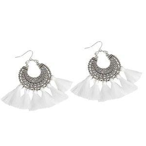 Jewelry - Vintage long tassel earrings